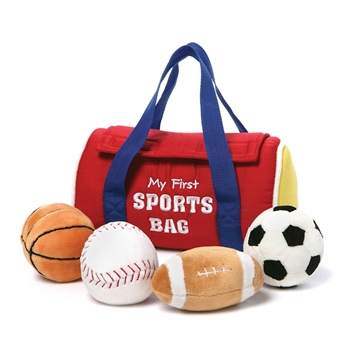 Plush My First Sports Bag Playset for Babies by Gund