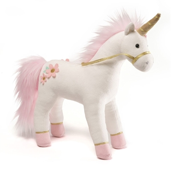 Lilirose the White & Pink Plush Unicorn by Gund