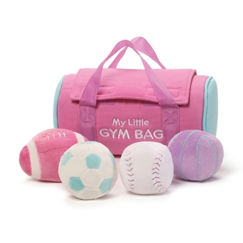 Pink Plush My Little Gym Bag Playset for Babies by Gund