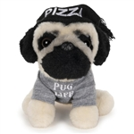 Doug the Plush Pug with Pizza Hat by Gund