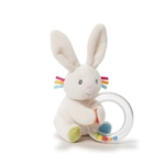 Flora The Bunny Plush Baby Rattle by Gund