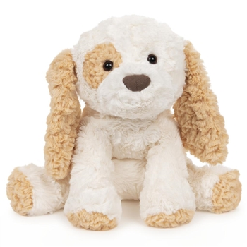 Cozys Plush White and Tan Puppy Stuffed Animal by Gund