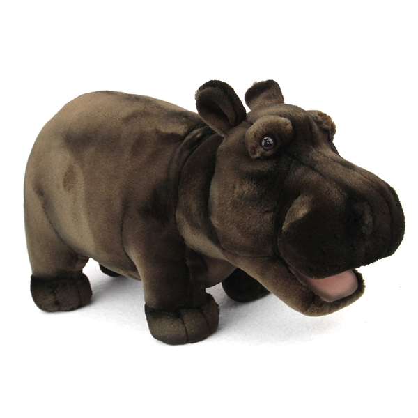 Handcrafted 18 Inch Lifelike Hippopotamus Stuffed Animal By Hansa At