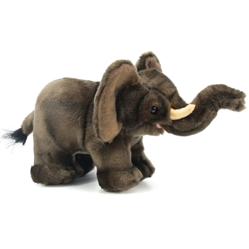 Handcrafted 9 Inch Lifelike Baby Elephant Stuffed Animal by Hansa