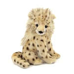 Handcrafted 8 Inch Lifelike Baby Cheetah Stuffed Animal by Hansa