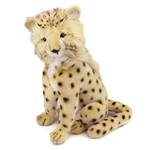 Handcrafted 14 Inch Lifelike Cheetah Cub Stuffed Animal by Hansa