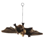 Handcrafted 15 Inch Lifelike Brown Bat Stuffed Animal by Hansa