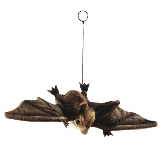 Handcrafted 15 Inch Lifelike Brown Bat Stuffed Animal By Hansa At