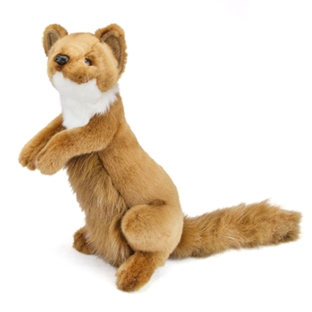 Handcrafted 12 Inch Lifelike Weasel Stuffed Animal by Hansa