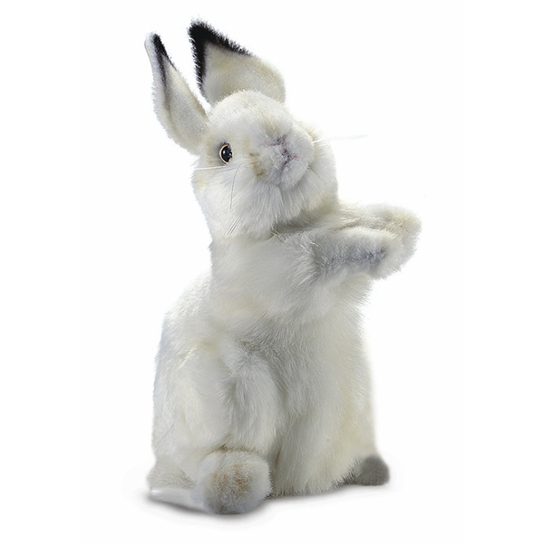 Handcrafted 13 Inch Lifelike Baby White Bunny Stuffed Animal By