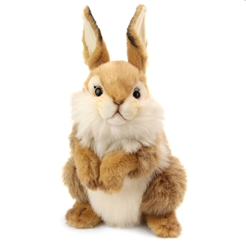 Handcrafted 12 Inch Lifelike Baby Brown Bunny Stuffed Animal by Hansa