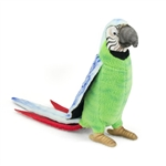 Handcrafted 7 Inch Lifelike Green Parrot Stuffed Animal by Hansa