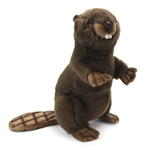 Lifelike Standing Beaver Stuffed Animal by Hansa