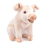 Handcrafted 8 Inch Lifelike Pig Stuffed Animal by Hansa