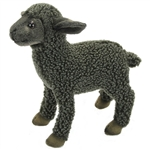 Lifelike Black Lamb Stuffed Animal by Hansa - Handcrafted - 12 Inch