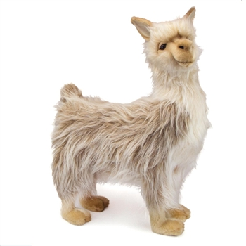 Handcrafted 17 Inch Lifelike Male Llama Stuffed Animal by Hansa