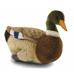 Handcrafted 14 Inch Lifelike Mallard Duck Stuffed Animal by Hansa