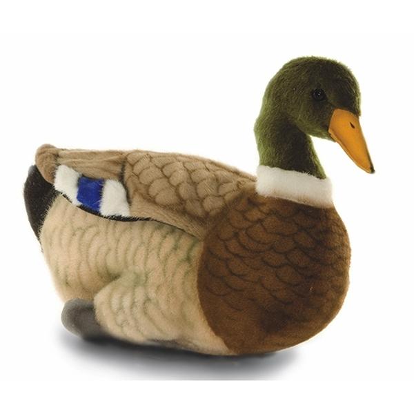 Handcrafted 14 Inch Lifelike Mallard Duck Stuffed Animal By Hansa At
