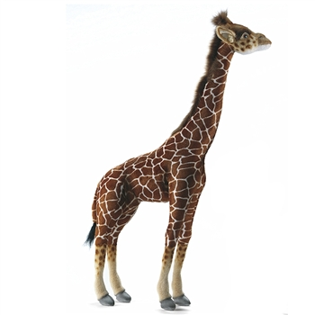 Handcrafted 34 Inch Lifelike Baby Giraffe Stuffed Animal by Hansa