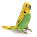 Lifelike Yellow Parakeet Stuffed Animal by Hansa