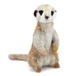 Handcrafted 10 Inch Standing Lifelike Meerkat Stuffed Animal by Hansa