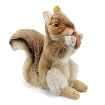Handcrafted 9 Inch Standing Lifelike Squirrel Stuffed Animal by Hansa