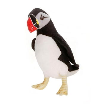 Lifelike Puffin Stuffed Animal by Hansa