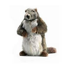 Handcrafted 13 Inch Lifelike Groundhog Stuffed Animal by Hansa