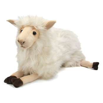 Handcrafted 15 Inch Lying Lifelike Mama Sheep Stuffed Animal by Hansa