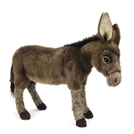 Lifelike Donkey Stuffed Animal by Hansa