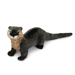 Handcrafted 9 Inch Lifelike River Otter Stuffed Animal by Hansa