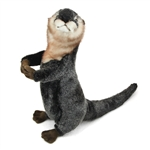 Handcrafted 14 Inch Lifelike Standing Stuffed River Otter by Hansa