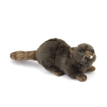 Handcrafted 6 Inch Lifelike Baby Beaver Stuffed Animal by Hansa