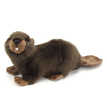 Handcrafted 10 Inch Lifelike Mama Beaver Stuffed Animal by Hansa