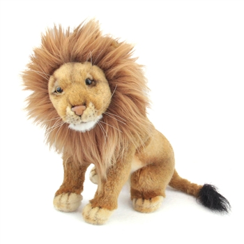 Handcrafted 8 Inch Sitting Lifelike Lion Stuffed Animal by Hansa