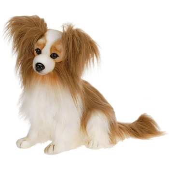 Lifelike Papillon Stuffed Animal by Hansa