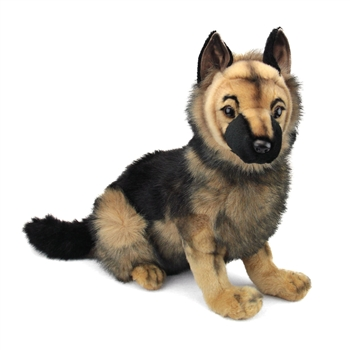 Handcrafted 16 Inch Lifelike Stuffed German Shepherd Puppy by Hansa