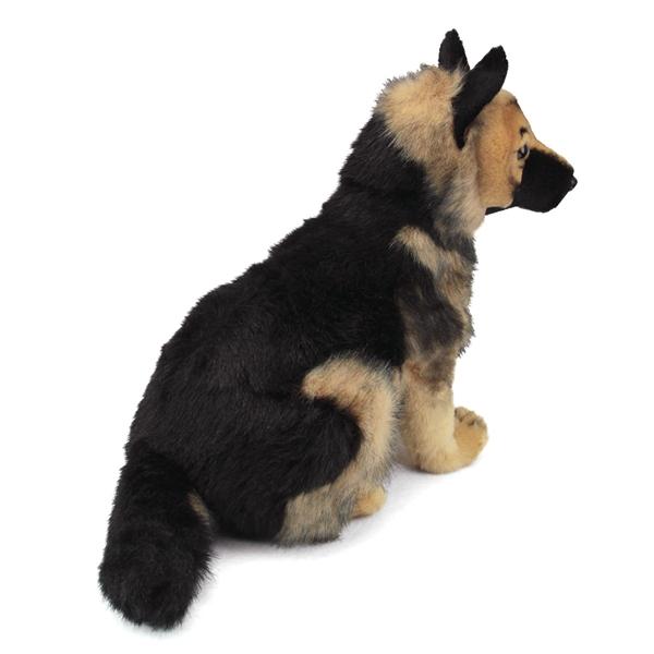 Handcrafted 16 Inch Lifelike Stuffed German Shepherd Puppy By Hansa