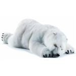 Handcrafted 41 Inch Life-size Stuffed Polar Bear Cub by Hansa