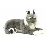 Handcrafted 28 Inch Life-size Lynx Stuffed Animal by Hansa