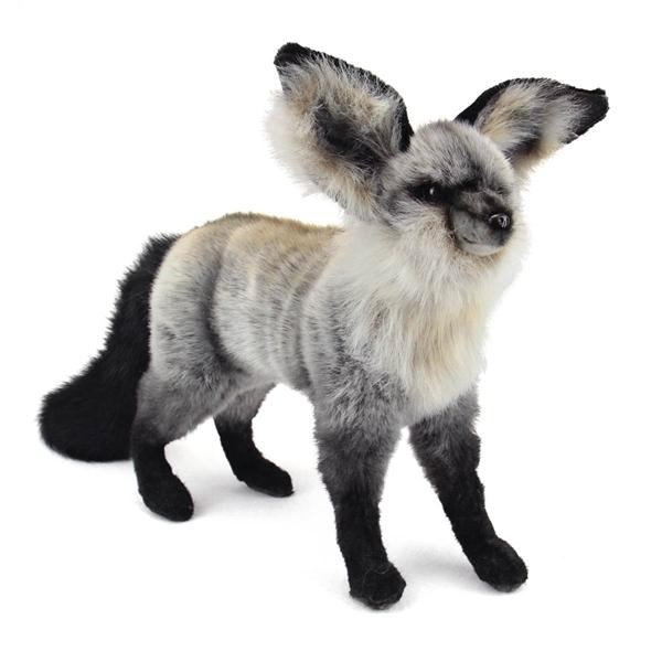 Handcrafted 14 Inch Lifelike Bat Eared Fox Stuffed Animal By Hansa