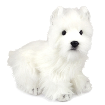 Handcrafted 9 Inch Lifelike Westie Stuffed Animal by Hansa