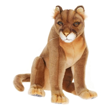 Lifelike Mountain Lion Stuffed Animal by Hansa