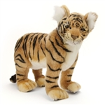 Handcrafted 12 Inch Standing Lifelike Stuffed Tiger Cub by Hansa