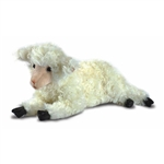 Lifelike White Lamb Stuffed Animal by Hansa - Handcrafted - 18 Inch
