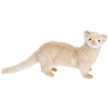Lifelike Cream Ferret Stuffed Animal by Hansa