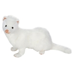 Lifelike White Ferret Stuffed Animal by Hansa