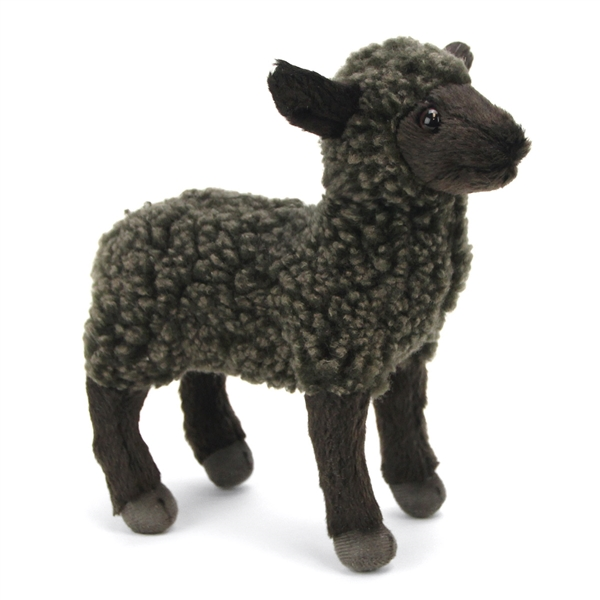 Handcrafted 7 Inch Lifelike Little Black Lamb Stuffed Animal By