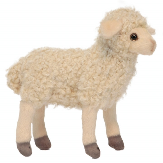 Handcrafted 7 Inch Lifelike Little White Lamb Stuffed Animal By