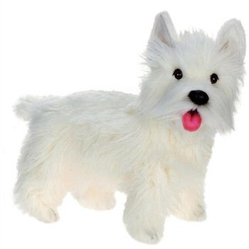 Lifelike West Highland Terrier Stuffed Animal by Hansa